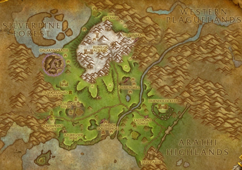 Hillsbrad Foothills Map